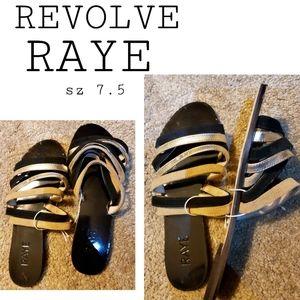Revolve RAYE multi strap flat slide. Sz 7.5.